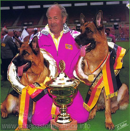 Walter con Vanta e Zamb Sieger e Siegerin
